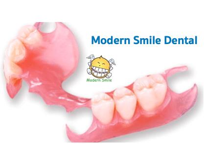 ฟันปลอมฐานพลาสติกแบบธรรมดา