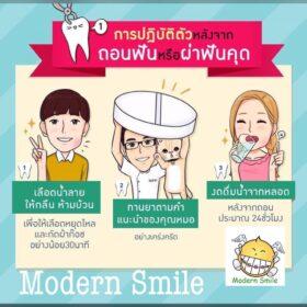 ข้อปฏิบัติภายหลังการ ถอนฟัน & ถอนฟันคุด เพื่อป้องกันการติดเชื้อหลังถอนฟัน